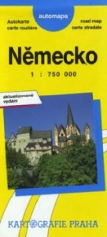 Německo AUTOMAPA 1:750 000