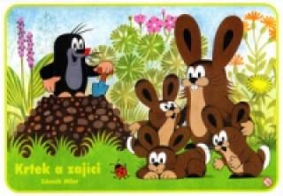 Krtek a zajíček - omalovánka