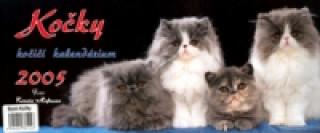 Kočky, kočičí kalendárium 2005 - stolní kalendář