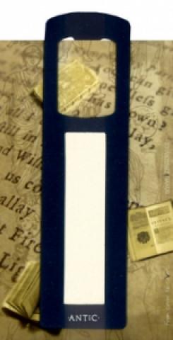 Antická záložka Text tmavě modrá - AZ 011