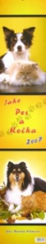 Kravata Jako pes a kočka 2007 - nástěnný kalendář