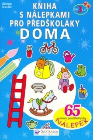 Kniha s nálepkami pro předškoláky Doma