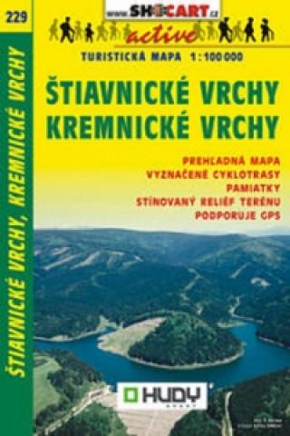 Štiavnické vrchy, Kremnické vrchy turistická mapa 1:100 000