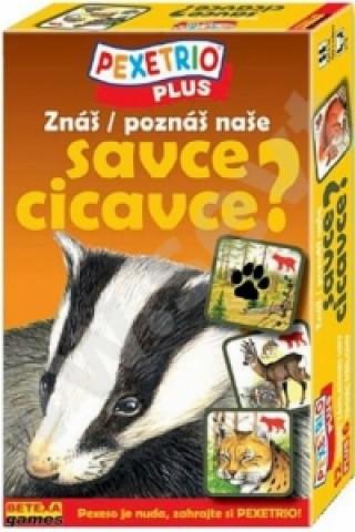 Joc / Jucărie Pexetrio Plus Znáš naše savce?