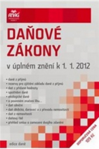 Daňové zákony v úplném znění k 1. 1. 2012