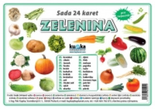 Sada 24 karet Zelenina