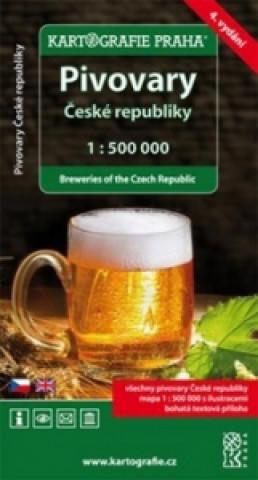 Pivovary České Republiky 1:500 000