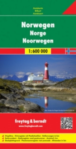 Automapa Norsko 1:600 000