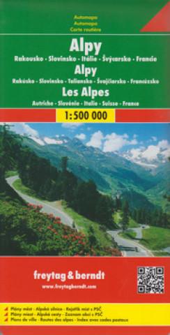 Automapa Alpy 1:500 000