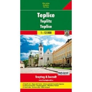 Teplice plán města 1:12 000