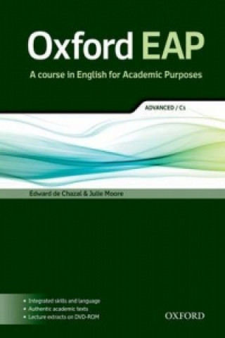Carte Oxford EAP: Advanced/C1: Student's Book and DVD-ROM Pack Edward de Chazal