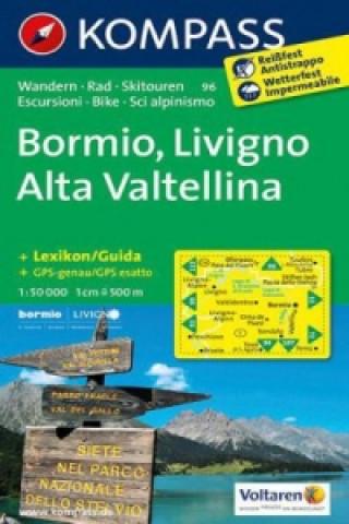 Materiale tipărite Kompass Karte Bormio, Livigno, Alta Valtellina Kompass-Karten Gmbh