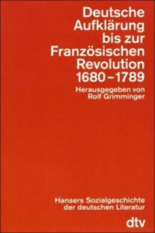 Deutsche Aufklärung bis zur Französischen Revolution 1680-1789