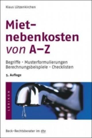 Mietnebenkosten von A-Z