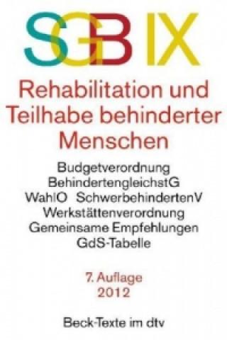 SGB IX, Rehabilitation und Teilhabe behinderter Menschen