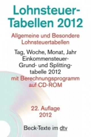 Lohnsteuer-Tabellen 2012, m. CD-ROM