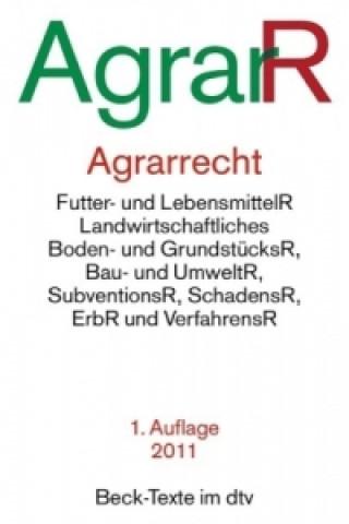 Agrarrecht (AgrarR)