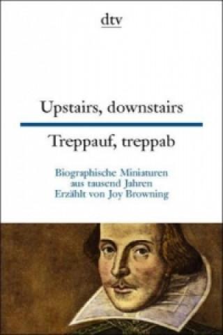 Treppauf, treppab, Englisch-Deutsch. Upstairs, Downstairs