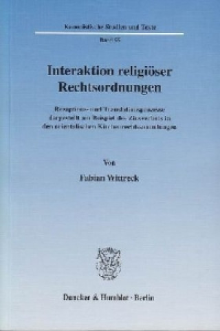 Carte Interaktion religiöser Rechtsordnungen. Fabian Wittreck