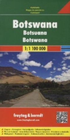 Carte Botswana. Botsuana