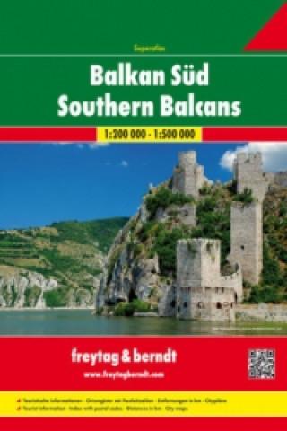 Superatlas Balkan Süd - Serbien-Montenegro-Kosovo-Mazedonien-Albanien