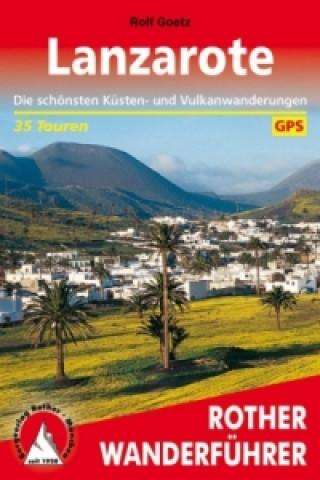 Kniha Rother Wanderführer Lanzarote Rolf Goetz