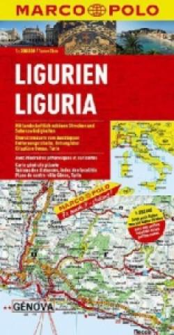 Carte Marco Polo Karte Ligurien. Ligurie / Liguria