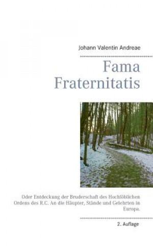 Carte Fama Fraternitatis Johann Valentin Andreae