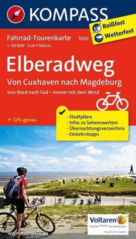 Kompass Fahrrad-Tourenkarte Elberadweg. Tl.2