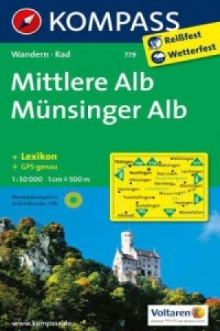 Kompass Karte Mittlere Alb, Münsinger Alb