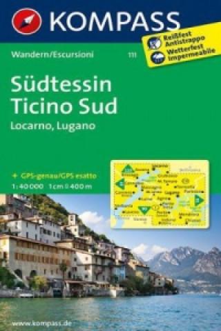 KOMPASS Wanderkarte Südtessin - Ticino Sud - Locarno - Lugano