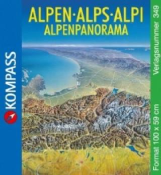 Materiale tipărite Alpenpanorama, plano. Alps. Alpi