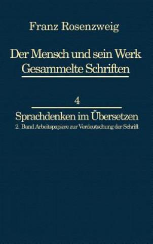 Carte Franz Rosenzweig Sprachdenken Franz Rosenzweig