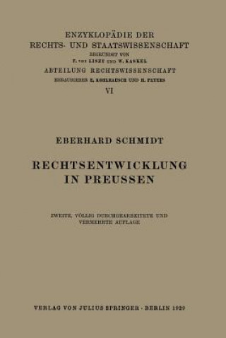 Rechtsentwicklung in Preussen