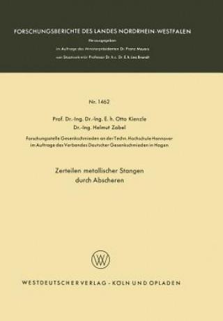 Carte Zerteilen Metallischer Stangen Durch Abscheren Otto Kienzle