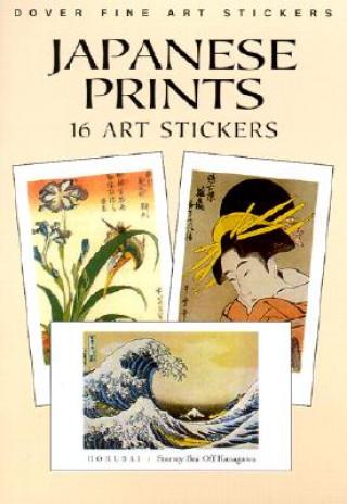 "Könyv Japanese Prints: 16 Art Stickers Hiroshige ""Hokusai"