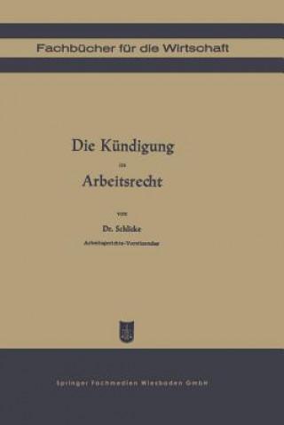 Könyv Die K ndigung Im Arbeitsrecht Georg Schlicke