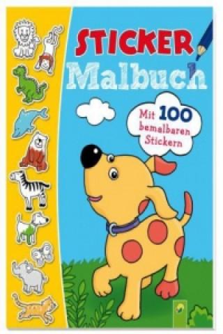 Sticker Malbuch (blau) / Najlacnejšie Knihy
