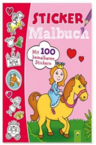 Sticker Malbuch (rosa) / Najlacnejšie Knihy