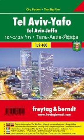 Freytag & Berndt Stadtplan Tel Aviv - Yaffo, City Pocket + The Big Five. Tel Aviv - Jaffa