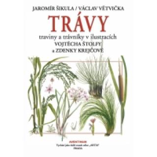Trávy traviny a trávniky v ilustracích Vojtěcha Štolfy a Zdenky Krejčové