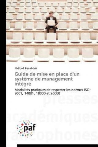 Carte Guide de Mise En Place d'Un Systeme de Management Integre Benabdeli Kheloufi