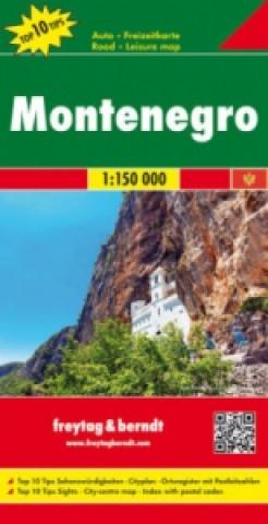 Materiale tipărite Černá Hora 1:150 000