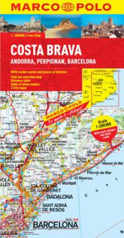 Materiale tipărite Costa Brava - Andorra, Barcelona Marco Polo Map Marco Polo