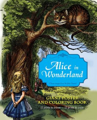 Alice in Wonderland Giant Poster and Coloring Book