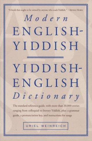 Carte Modern English / Yiddish Dictionary Uriel Weinreich