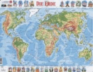 Die Erde, physisch (Kinderpuzzle)
