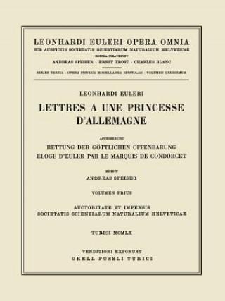 Carte Leonhard Euleri Opera Omnia: Series Tertia Leonhard Euler