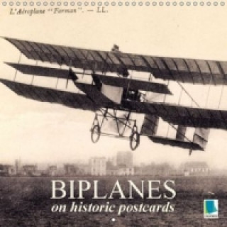 Biplanes on historic postcards (Wall Calendar 2015 300 × 300 mm Square)