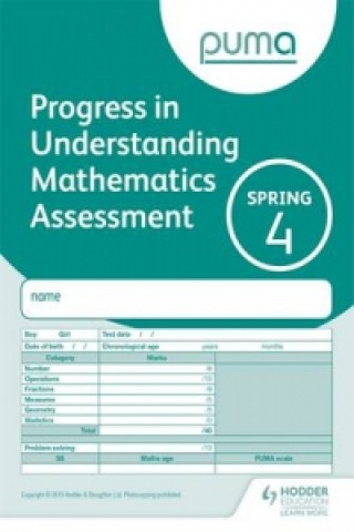 Puma Test 4, Spring Pk10 (Progress in Understanding Mathematics Assessment)